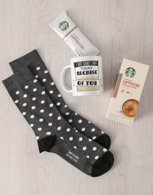 socks: Personalised Because Of You Sock Hamper!