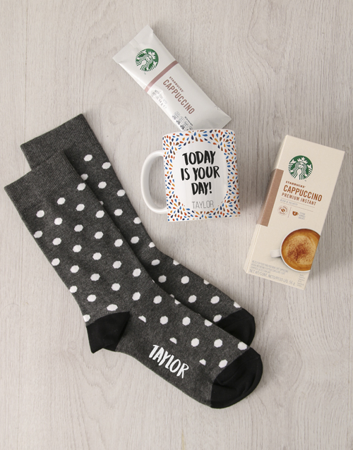 apparel: Personalised Today Is The Day Sock Hamper!