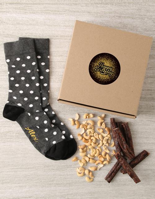 socks: Personalised Happy Birthday Sock Hamper!