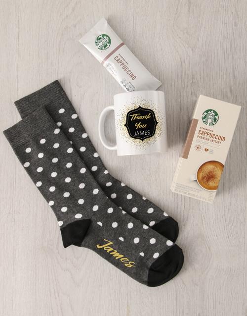 apparel: Personalised Thank You Sock Hamper!