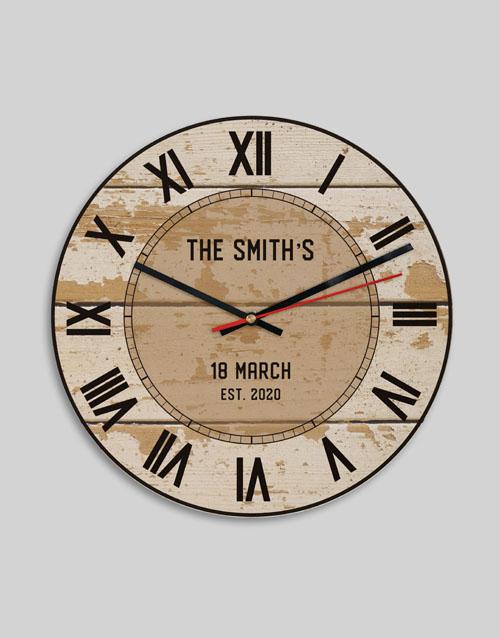 anniversary: Personalised Vintage Surname Clock!