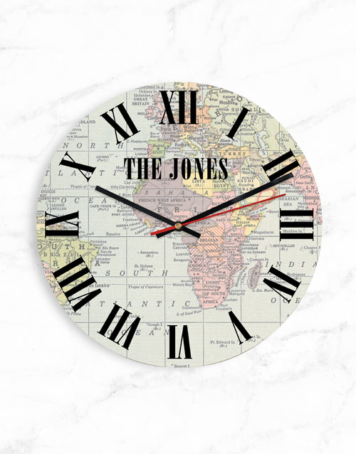 home-decor: Personalised Map Clock !