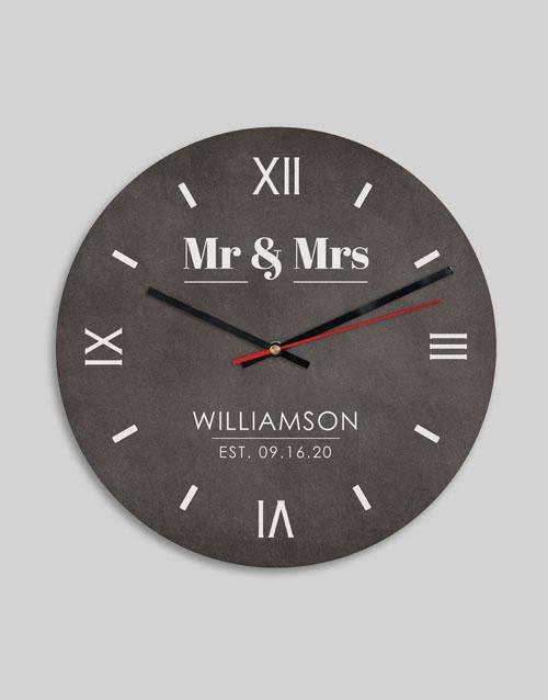 anniversary: Personalised Mr And Mrs Clock!