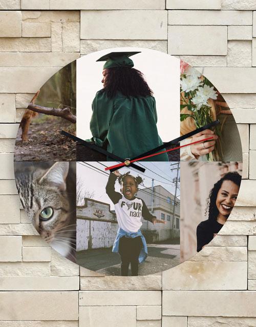 anniversary: Personalised 6 Photo Collage Clock!