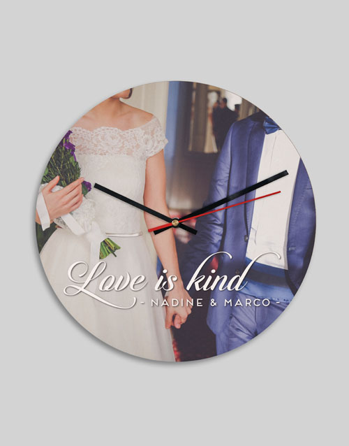 home-decor: Personalised Love Is Clock !