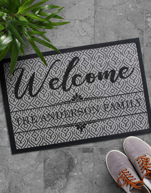 birthday: Personalised Welcome Home Family Doormat!