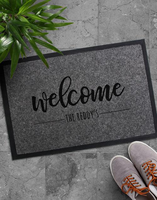 birthday: Personalised Welcome Surname Doormat!