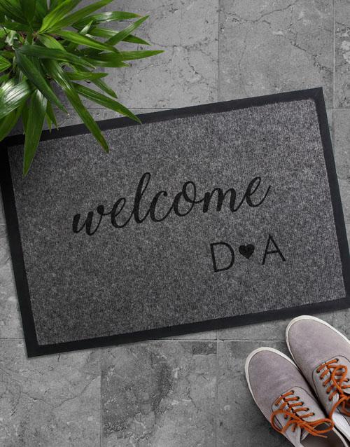 wedding: Personalised Welcome Initials Doormat!