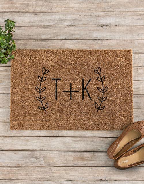 wedding: Personalised Fancy Initials Doormat!