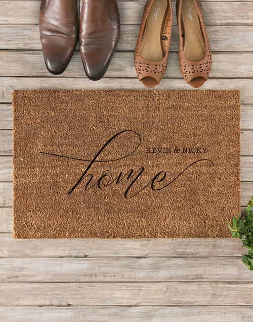 anniversary: Personalised Couples Home Doormat!