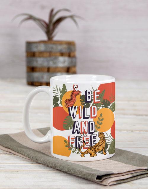 house-warming: Personalised Be Wild And Free Mug!