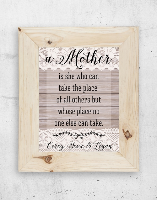 mothers-day: Personalised Mom & I Frame!