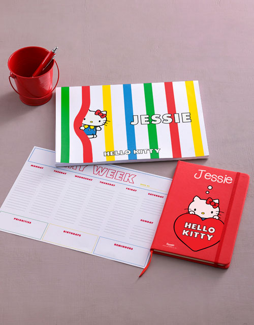 personalised: Personalised Red Hello Kitty Stationery Set!