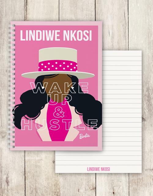 personalised: Personalised Wake Up Barbie Notebook!