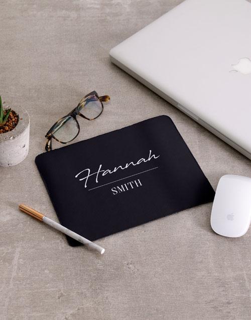 personalised: Personalised Signature Mousepad And Stationery Set!