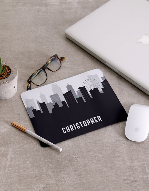 bosses-day: Personalised Skyline Mousepad And Stationery Set!