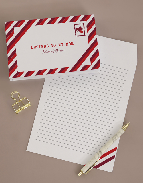 miss-you: Personalised Letters To Mom Notebook!