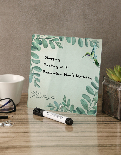 personalised: Nature Glass Reminder Whiteboard!
