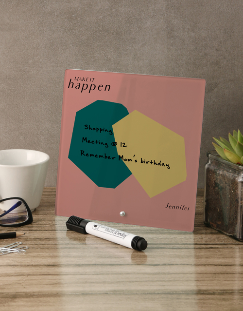 personalised: Abstract Glass Reminder Whiteboard!