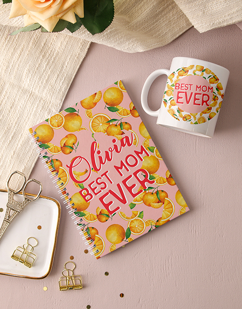 mothers-day: Personalised Best Mom Ever Notebook!