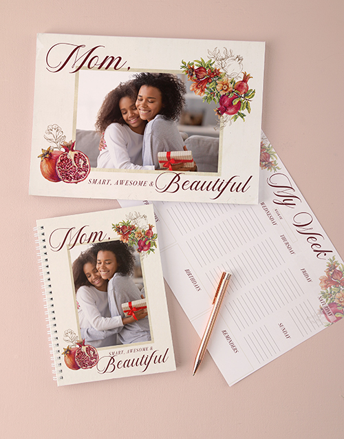 mothers-day: Personalised Smart And Beautiful Note Set!