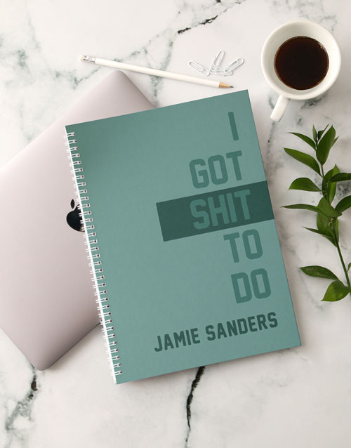 bosses-day: Personalised Things To Do Notebook!