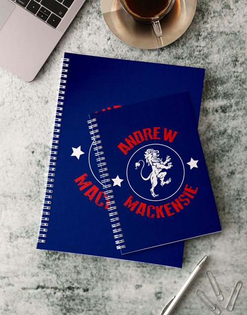 fathers-day: Personalised Lion Emblem Notebook!