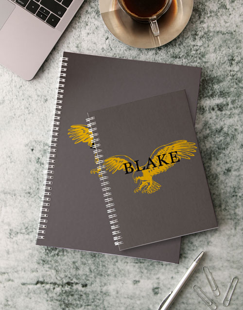 bosses-day: Personalised Eagle Notebook!