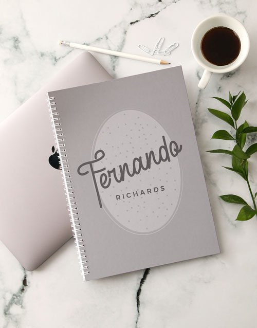 fathers-day: Personalised Trendy Emblem Notebook!