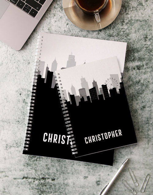 bosses-day: Personalised City Skyline Notebook!