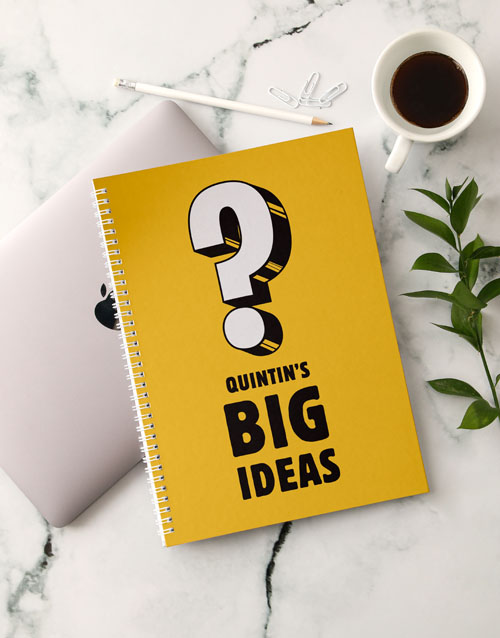 bosses-day: Personalised Big Ideas Notebook!