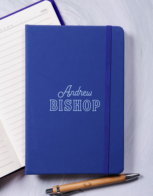bosses-day: Personalised Modern Name Hardcover Journal!