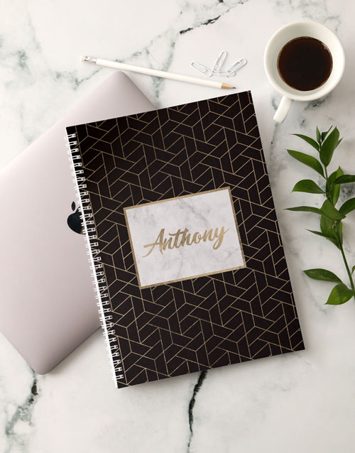 bosses-day: Personalised Gold Sophistication Notebook!