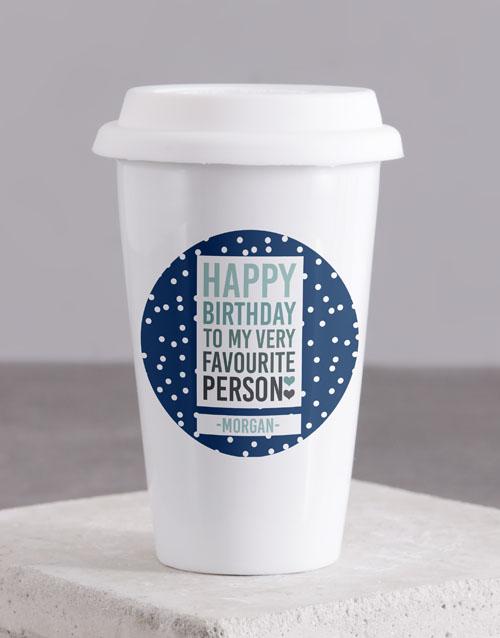 homeware: Personalised Favourite Person Ceramic Travel Mug!