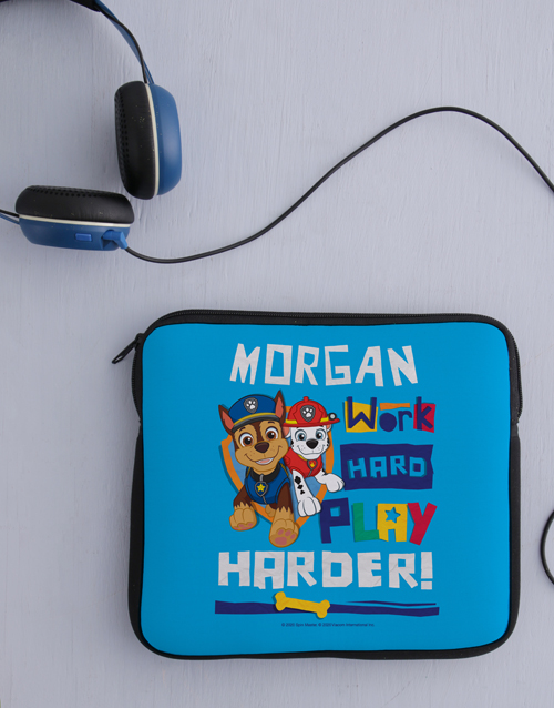 christmas: Personalised Work Is Play Kids Tablet Cover!