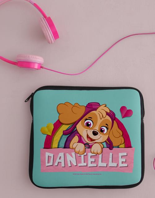 christmas: Personalised Pink Paw Patrol Kids Tablet Cover!