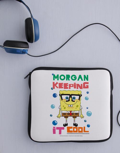 christmas: Personalised SpongeBob Kids Tablet Cover!