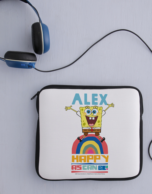 kids: Personalised Happy SpongeBob Kids Tablet Cover!