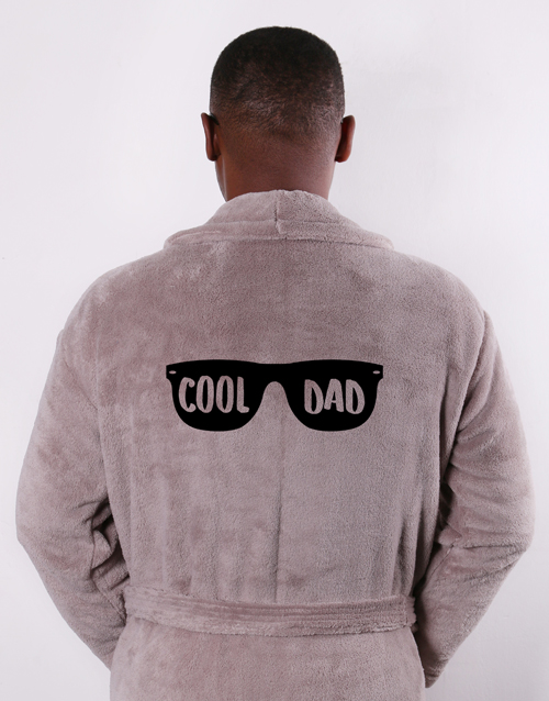 fathers-day: Personalised Cool Dad Brown Gown!