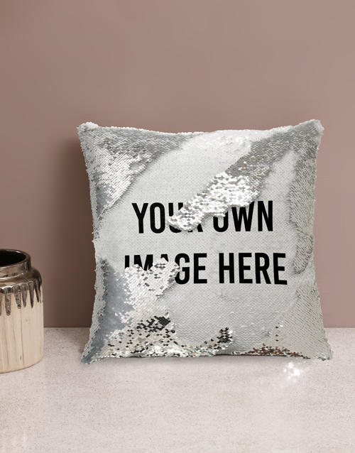personalised: Personalised Own Message Sequin Cushion!