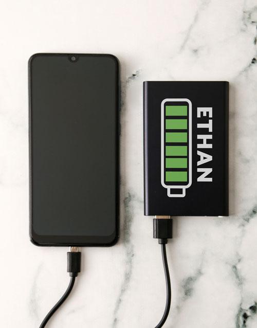 christmas: Personalised Battery Black Powerbank!