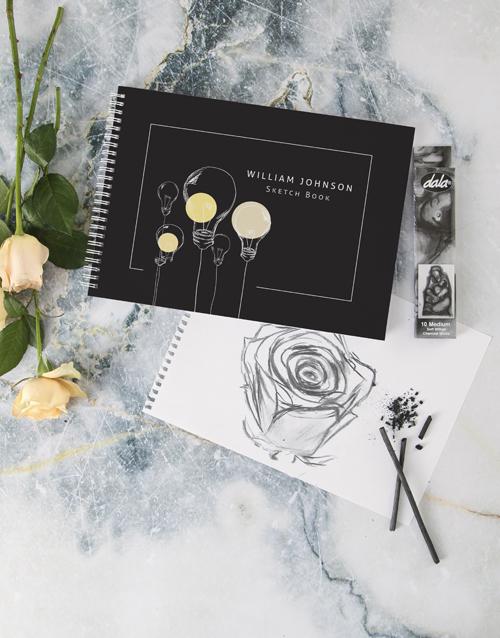 teachers-day: Personalised Lightbulb Sketch Book !