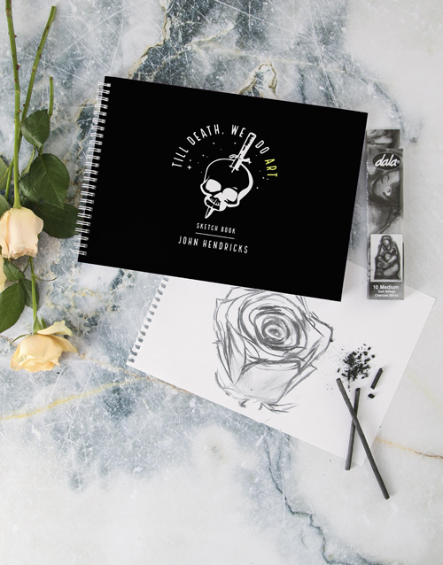 personalised: Personalised Till Death Do We Art Sketch Book !
