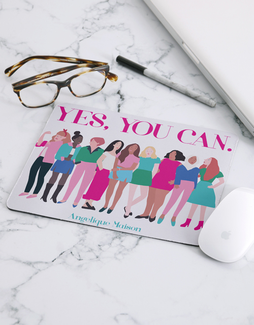 teachers-day: Personalised Yes You Can Mouse Pad!