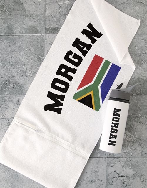 activewear: Personalised RSA Flag Gym Towel Set!