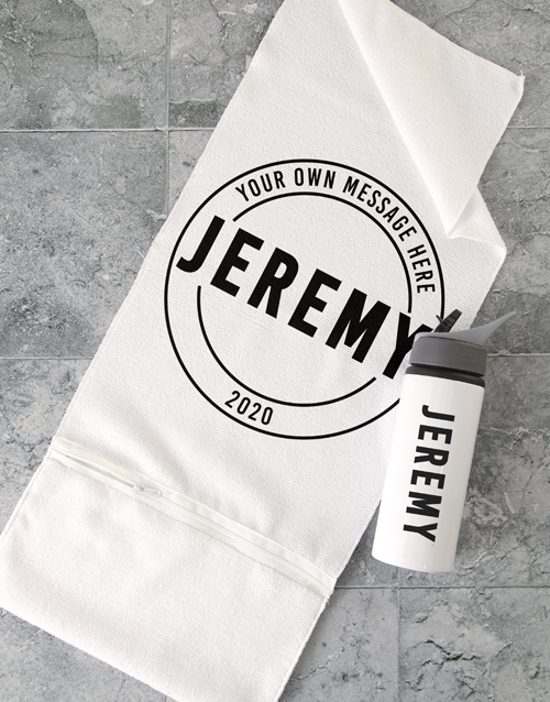 personalised: Personalised Logo Gym Towel Set!