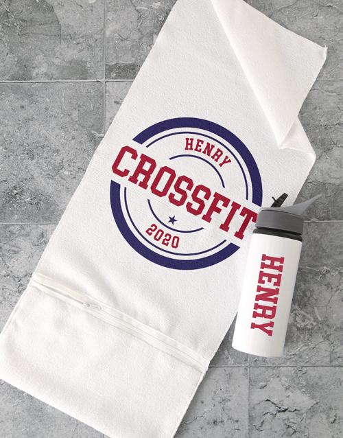 activewear: Personalised Retro Gym Towel Set!