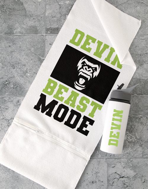 activewear: Personalised Beast Mode Gym Towel Set!
