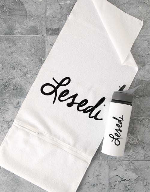 personalised: Personalised Signature Gym Towel Set!
