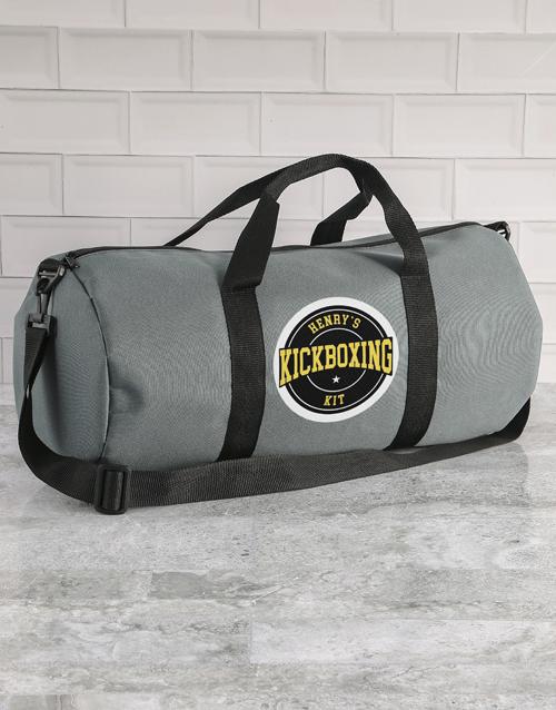 christmas: Personalised Grey Gym Duffel Bag!
